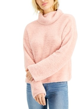 Hooked Up by IOT Juniors' Plush Turtleneck Sweater