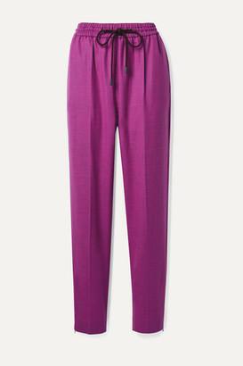 Roksanda Palmira Wool-blend Twill Tapered Pants - Purple