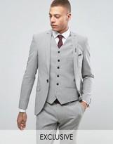 Heart & Dagger Super Skinny Suit Jacket In Summer Dogstooth