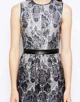 Warehouse Baroque Print Dress