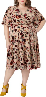 Maree Pour Toi Floral Print Wrap Dress