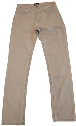 A.P.C. Green Cotton Trousers