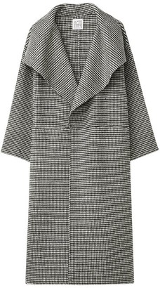 Totême Annecy Shawl-lapel Wool-blend Houndstooth Coat - Black White
