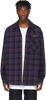 Off-White Black Flannel Check Shirt