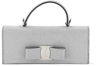Salvatore Ferragamo Vara Bow Glitter Top Handle Bag