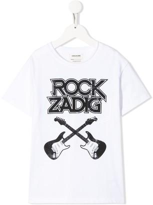 Zadig & Voltaire Kids Kita graphic print cotton T-shirt