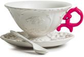 Seletti I-Wares Porcelain Tea Set - Fuchsia
