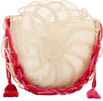 Nannacay - Cotio Catarina Round Straw Beach Tote Bag