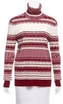 Tory Burch Rib Knit Turtleneck Sweater
