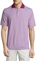 Peter Millar Jubilee Striped Short-Sleeve Stretch Jersey Polo Shirt, Wine