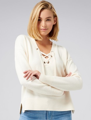 Ever New Hope Lace-Up Front Sweater