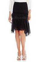 M.S.S.P. Ruffled Textured Georgette Skirt