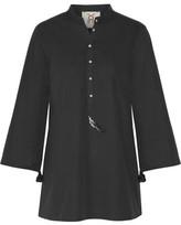 Figue Lisa Embellished Cotton-Poplin Tunic