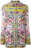 Etro floral paisley border blouse - women - Cotton - 40