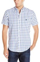 U.S. Polo Assn. Men's Window Pane Check Short Sleeve Sport Shirt