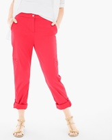 Chico's Luxe Twill Utility Crop Pants