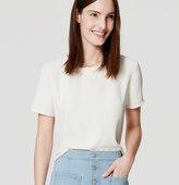 LOFT Shirttail Top