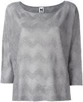 M Missoni boat neck top - women - Cotton/Polyamide/Polyester/Viscose - M