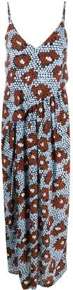 Christian Wijnants Geometric Print Midi Dress