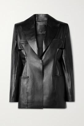 Givenchy - Cutout Leather Blazer - Black
