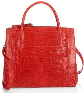 Nancy Gonzalez Medium Nix Crocodile Top Handle Bag