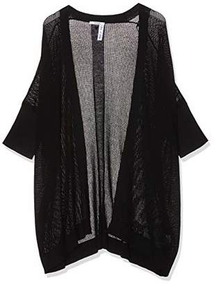 GUESS Women's Cecile Maxi Sweater Cardigan, (Jet Black A996 Jblk), Small