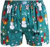 Lousy Livin Underwear Merry Merry Boxer Shorts Forrest Green