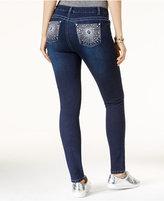 Freestyle Juniors' Starburst Embellished Skinny Jeans