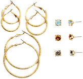 Arizona 12-pc. Multi Color Earring Sets