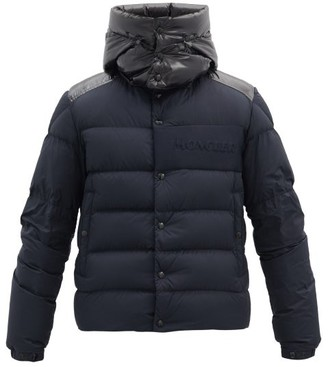 Moncler Aubrac Hooded Down Quilted Jacket - Navy