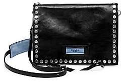 Prada Women's Small Glace Etiquette Studded Leather Shoulder Bag