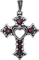 Summit Heart Cross Pendant - Collectible Medallion Necklace Accessory Jewelry