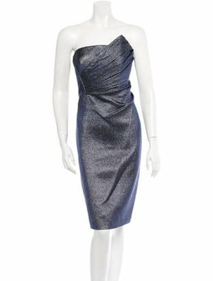 J. Mendel Strapless Dress w/ Tags Blue