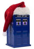Kurt Adler Doctor Who LED Tardis with Santa Hat Ornament