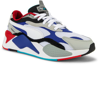 Puma Select RSX Cube RS-X3 Puzzle in Puma White & Dazzling Blue | FWRD
