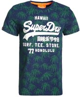 Superdry Shop Surf Print Tshirt Princeton Blue