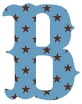 "Wall Candy Arts WallCandy Arts WallCandy Luv Letters Stars Letter ""B"" Wall Decal in Blue"
