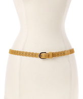 Betsey Johnson Vachetta Scalloped Cutout Belt & Cobalt Narrow Belt Set