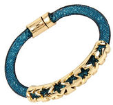 Betsey Johnson Confetti Goldtone Mesh Bracelet