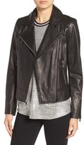 Andrew Marc Nappa Leather Moto Jacket