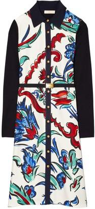 Tory Burch Silk-Front Shirtdress