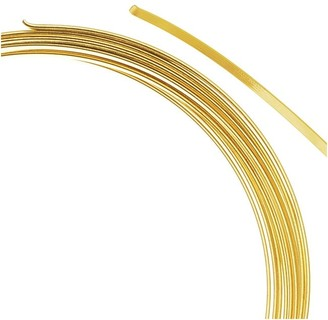Beadalon Gold Plated Flat Bracelet Memory Wire 2.25 Inch Loops
