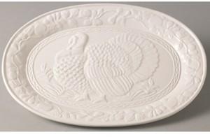 "Red Vanilla Wild Turkey Platter 17.75"""