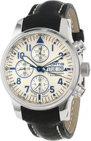 Fortis Men's 701.20.92 L.01 F-43 Flieger Chronograph Dial Automatic Chronograph Date Leather Watch