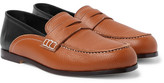 Loewe Two-Tone Textured-Leather Collapsible-Heel Loafers