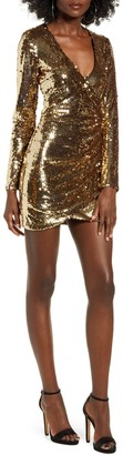 Tiger Mist Flores Sequin Long Sleeve Dress