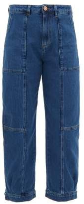 See by Chloe Button-cuff Panelled High-rise Jeans - Womens - Denim