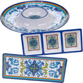Certified International 3 Piece Lucca Chip & Dip/Relish/ Rectangular Platter