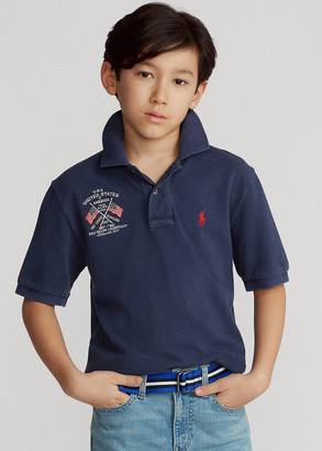 Ralph Lauren Americana Cotton Mesh Polo