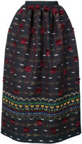 Oscar de la Renta tassel embroidered skirt